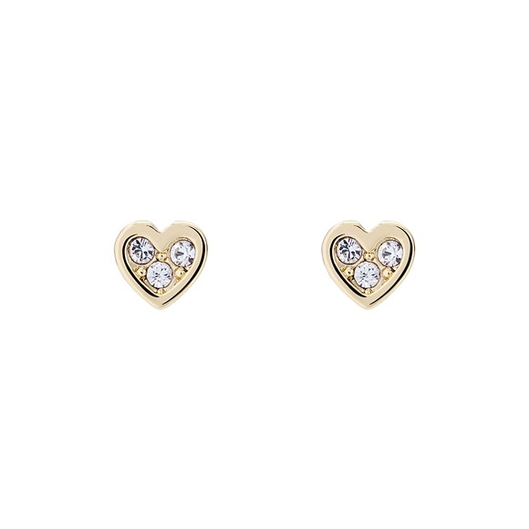 Ted Baker Womens Gold Neena Nano Heart Stud Earring
