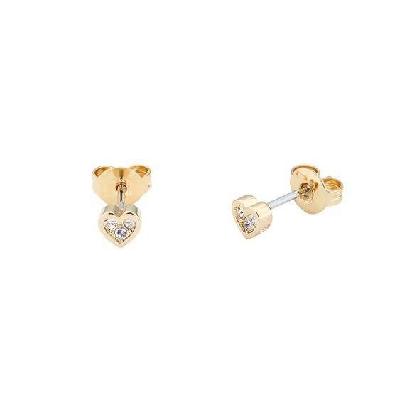 Ted Baker Womens Gold Neena Nano Heart Stud Earring main image