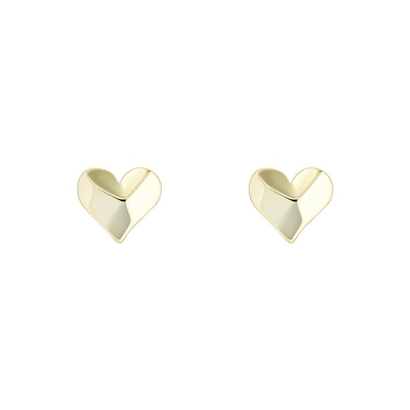 Ted Baker Womens Gold Felisi Faceted Heart Stud