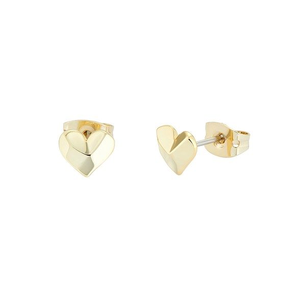 Ted Baker Womens Gold Felisi Faceted Heart Stud main image