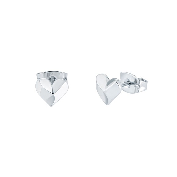 Ted Baker Womens Silver Felisi Faceted Heart Stud main image