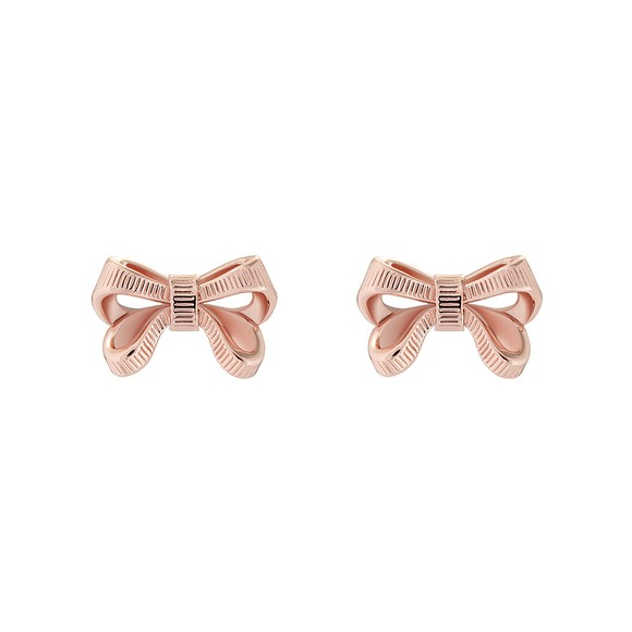 Ted Baker Womens Pink Pollay Bow Stud