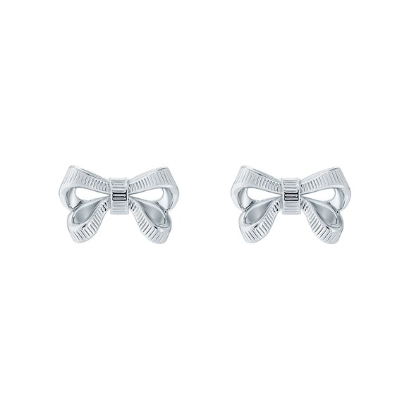 Ted Baker Womens Silver Pollay Bow Stud