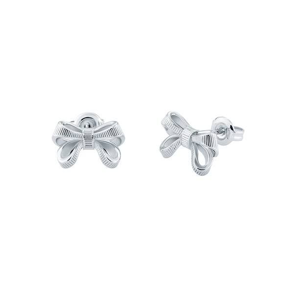 Ted Baker Womens Silver Pollay Bow Stud main image