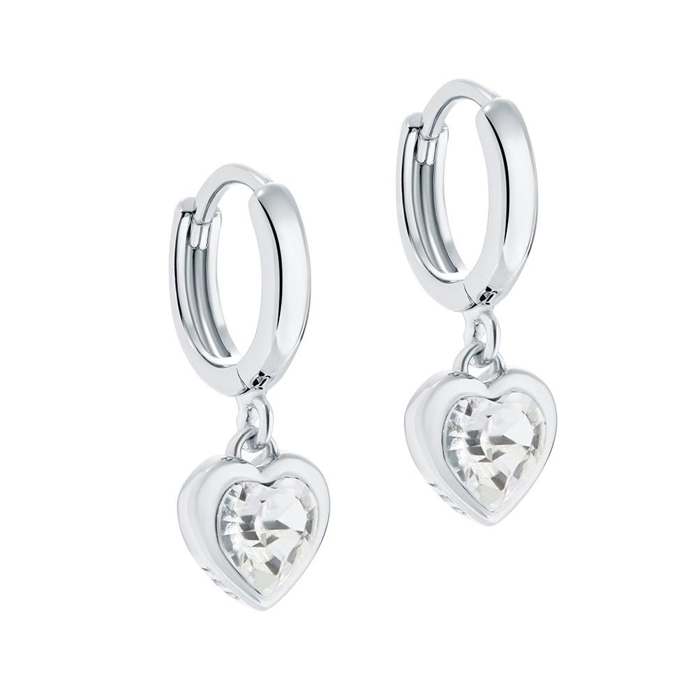 Hanniy Crystal Heart Huggie Earring main image