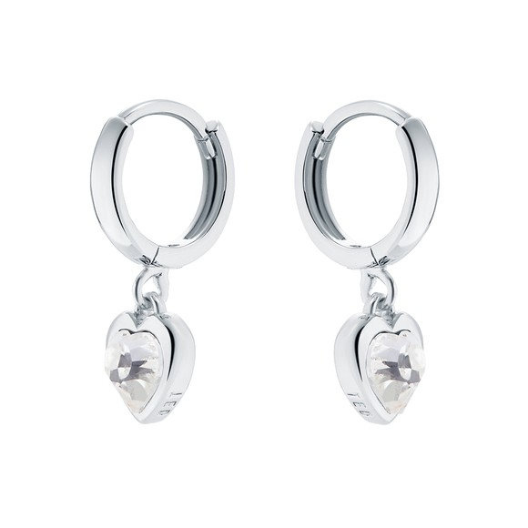 Ted Baker Womens Silver Hanniy Crystal Heart Huggie Earring main image