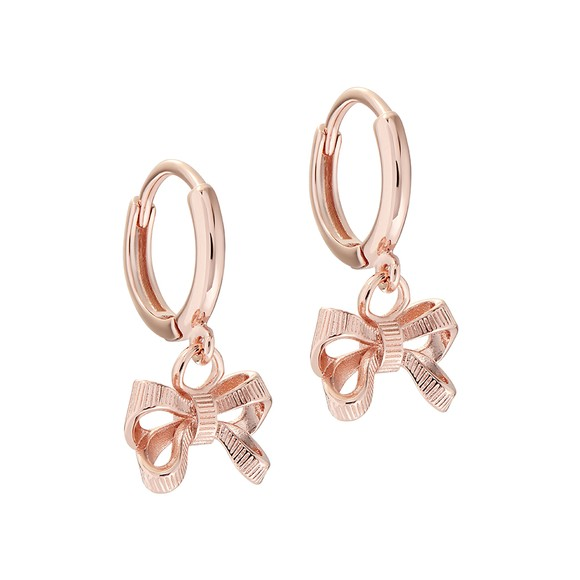 Ted Baker Womens Pink Perrie Bow Huggie Earring