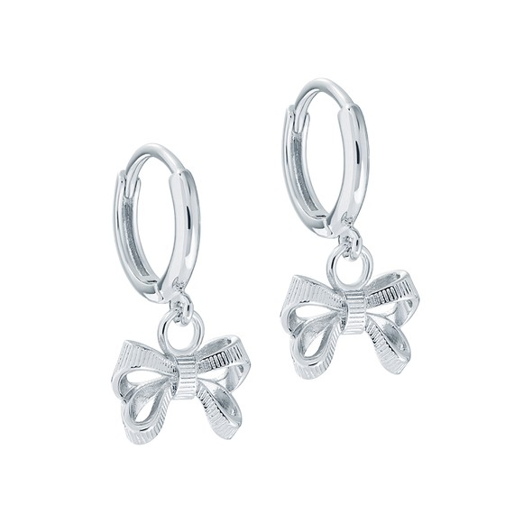 Ted Baker Womens Silver Perrie Bow Huggie Earring main image