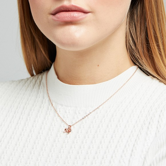 Ted Baker Womens Pink Petrae Bow Pendant
