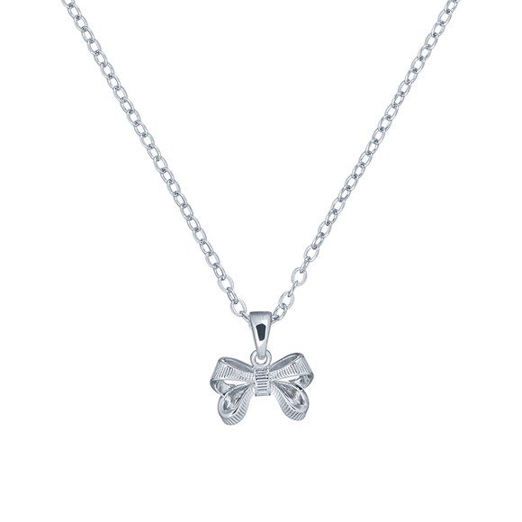 Ted Baker Womens Silver Petrae Bow Pendant main image
