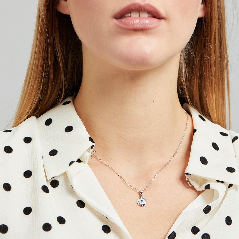 Elvina Enamel Mini Button Pendant main image