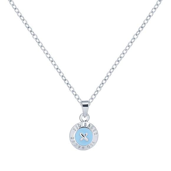 Ted Baker Womens Blue Elvina Enamel Mini Button Pendant main image