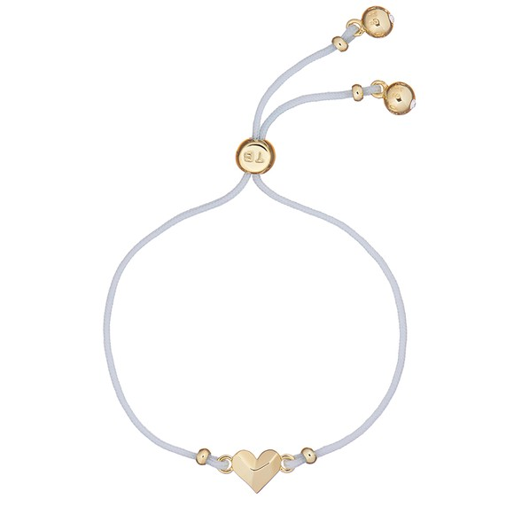 Ted Baker Womens Gold Fillipe Faceted Heart Bracelet