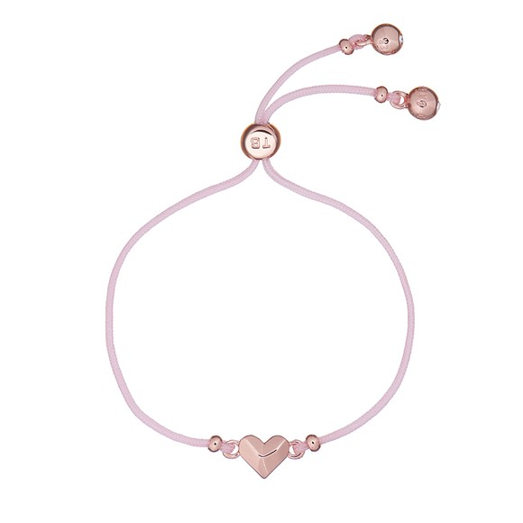 Ted Baker Womens Pink Fillipe Faceted Heart Bracelet