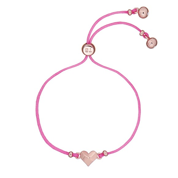 Ted Baker Womens Pink Fillipe Faceted Heart Bracelet main image