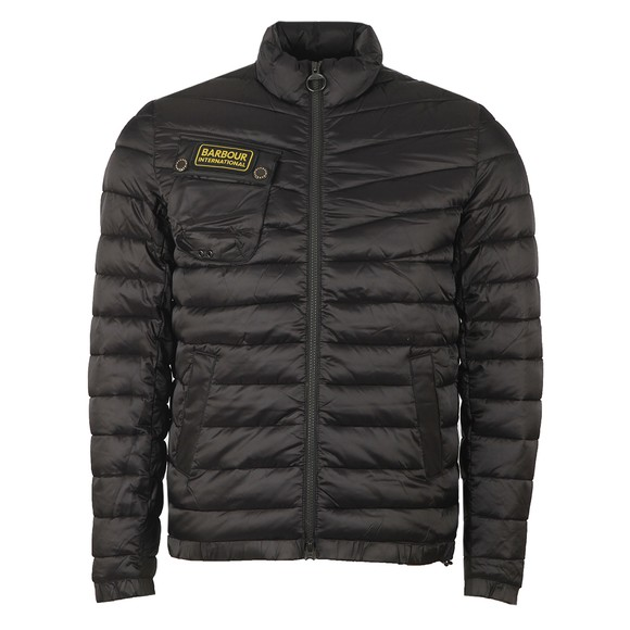 Barbour International Mens Black Chain Baffle Quilt Jacket