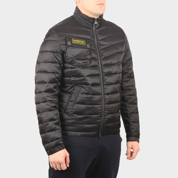 Barbour International Mens Black Chain Baffle Quilt Jacket main image
