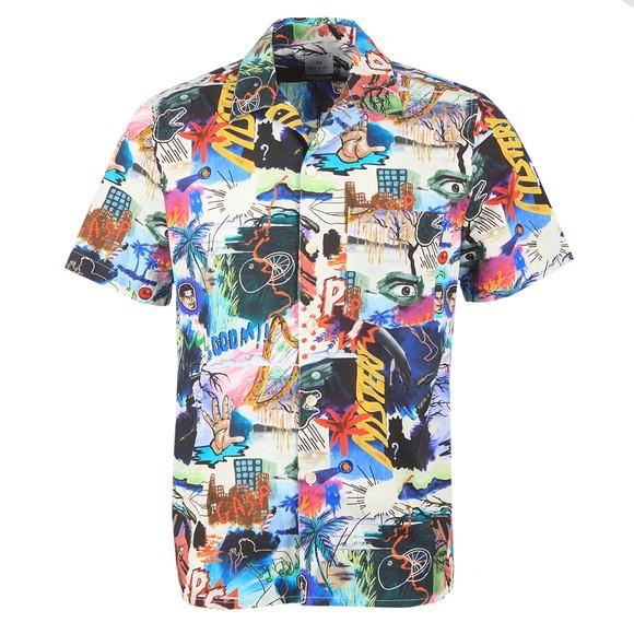 PS Paul Smith Mens Multicoloured Pulp Print SS Shirt