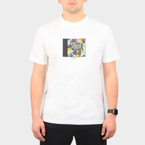 PS Paul Smith Mens White Zebra Hands T-Shirt