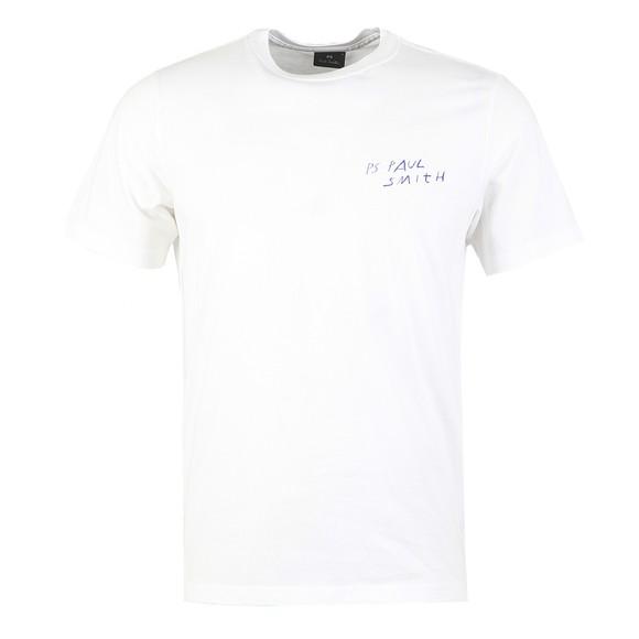 PS Paul Smith Mens White Scrapbook T-Shirt