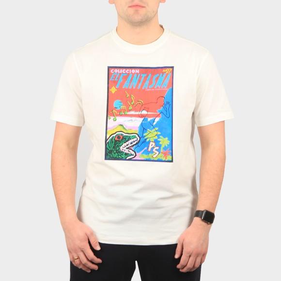 PS Paul Smith Mens Off-White Fantasma T-Shirt