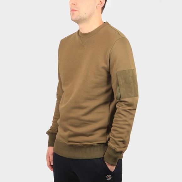 PS Paul Smith Mens Green Sleeve Pocket Sweatshirt