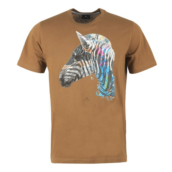 PS Paul Smith Mens Green Graffiti Zebra T-Shirt