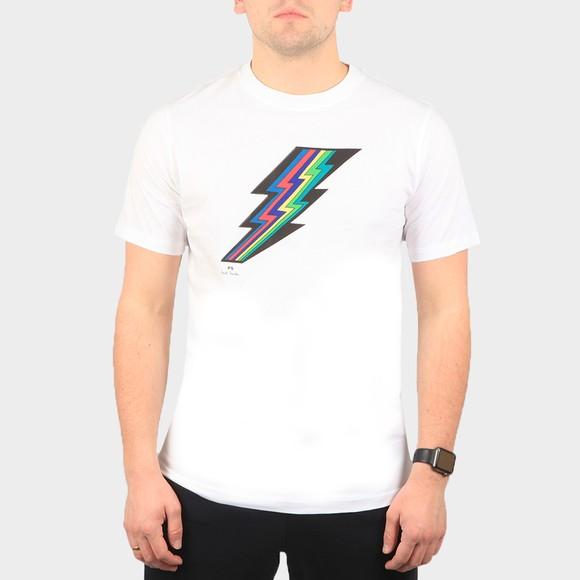 PS Paul Smith Mens White Lightning T-Shirt