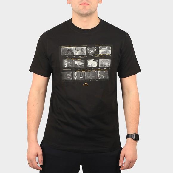 PS Paul Smith Mens Black Negatives T-Shirt