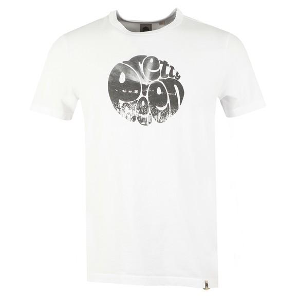 Pretty Green Mens White Crowd Printed T Shirt