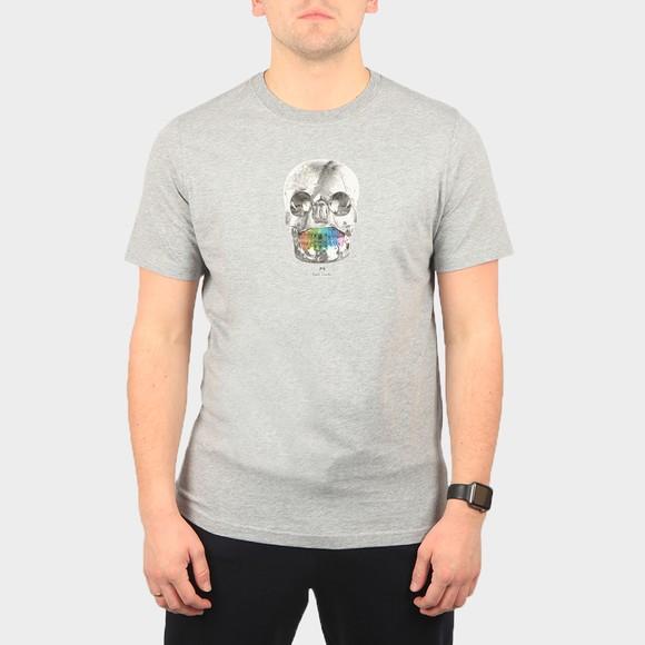 PS Paul Smith Mens Grey Skull T-Shirt