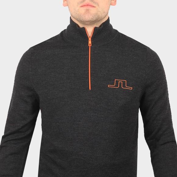 J.Lindeberg Mens Black Max Zipped Golf Jumper