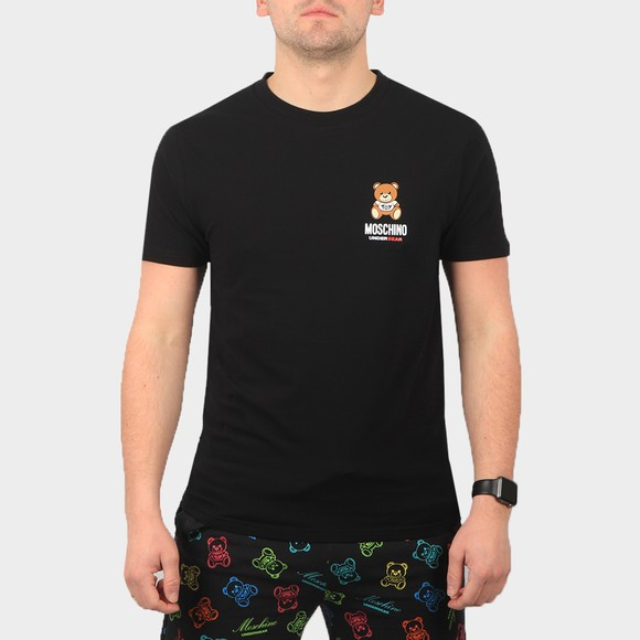 Moschino Mens Black Bear Stretch T Shirt
