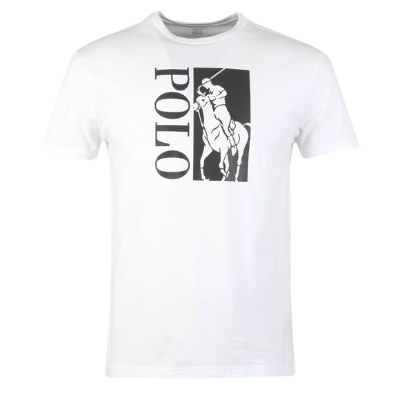 Polo Ralph Lauren Mens White Classic Fit Big Pony T Shirt