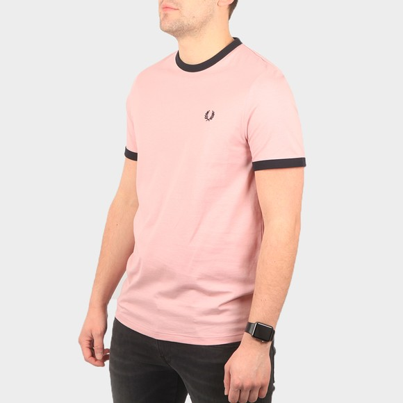 Fred Perry Mens Pink Ringer T-Shirt main image