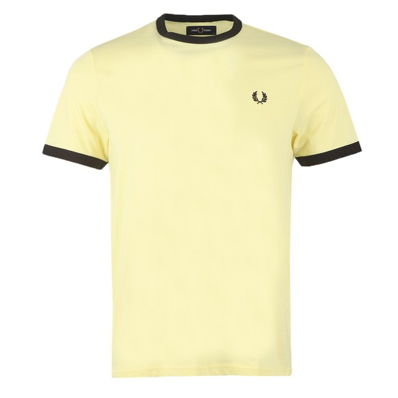 Fred Perry Mens Yellow Ringer T-Shirt