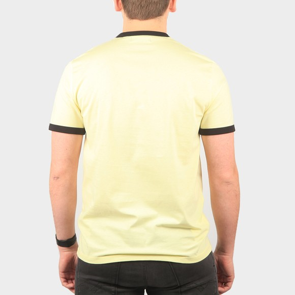Fred Perry Mens Yellow Ringer T-Shirt main image