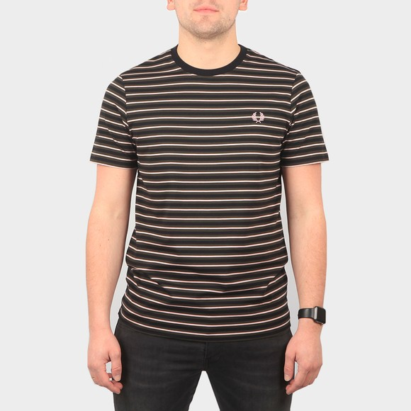 Fred Perry Mens Green Fine Stripe T-Shirt main image