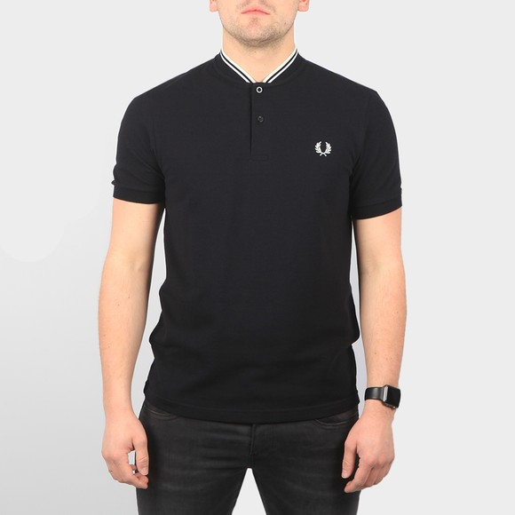 Fred Perry Mens Black Bomber Collar Polo Shirt main image