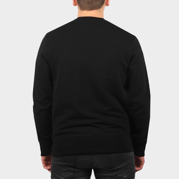Fred Perry Mens Black Embroided Sweatshirt main image
