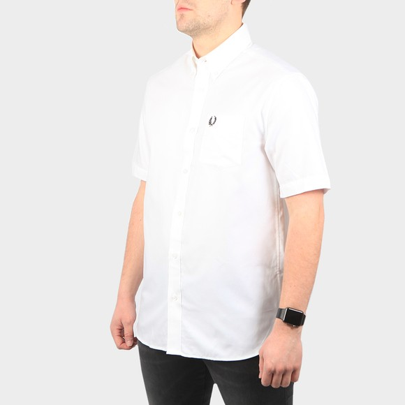 Fred Perry Mens White SS Oxford Shirt main image