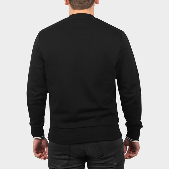 Fred Perry Mens Black Crew Neck Sweatshirt main image