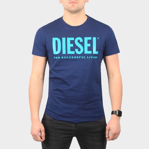 Diesel Mens Blue Diego Logo T Shirt main image