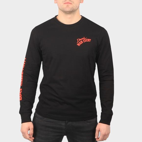 Diesel Mens Black T Diegos Long Sleeve T Shirt
