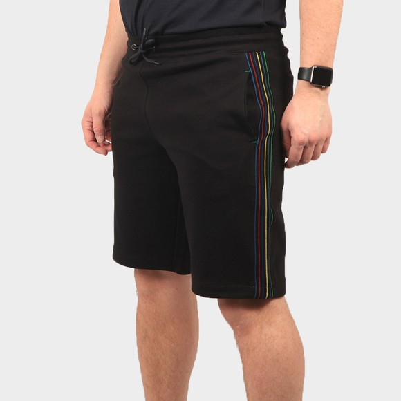 PS Paul Smith Mens Black Stripe Tape Shorts