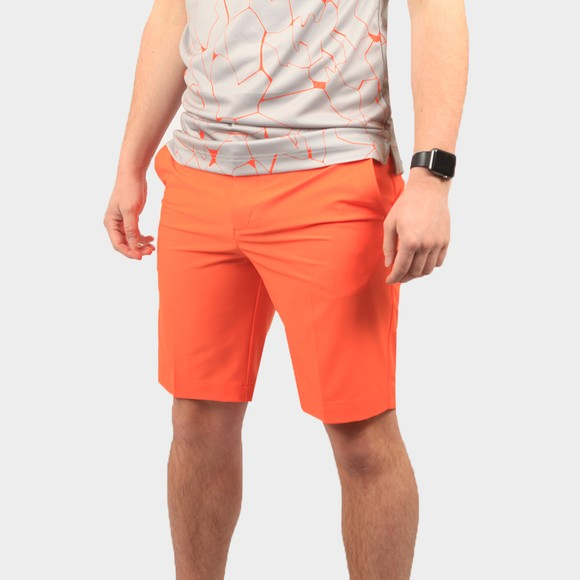 J.Lindeberg Mens Orange Eloy Golf Shorts
