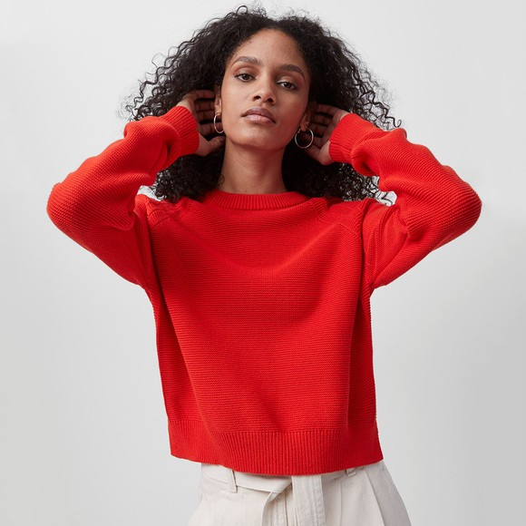 French Connection Womens Red Lily Mozart Jumper