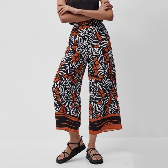 French Connection Womens Black Afara Drape Culottes