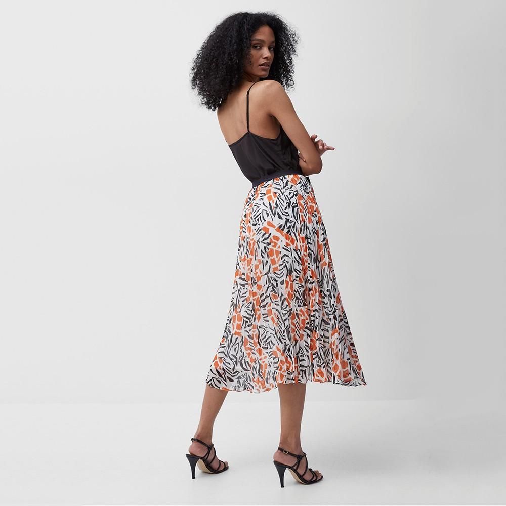 Afra Crinkle Pleated Midi Skirt main image
