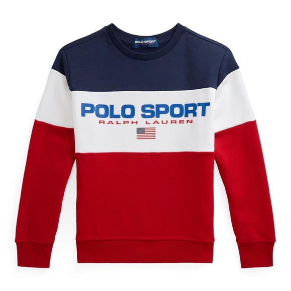 Polo Sport Ralph Lauren Boys Red Block Logo Sweatshirt